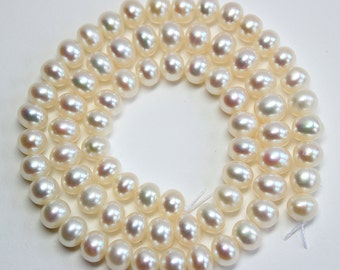 Cultured Pearl Rounded Wheel Beads 6.5x4mm