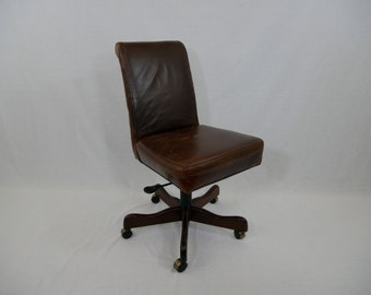 Vintage Leather banker/lawyer office Chair.