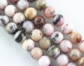 Natural Pink Opal Smooth Round Loose Bead 15.5'' Long Per Strand. Size 4mm/6mm/8mm/10mm/12mm/16mm.R-S-OPA-0323