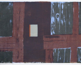 original silkscreen print, interior art, panel, abstract
