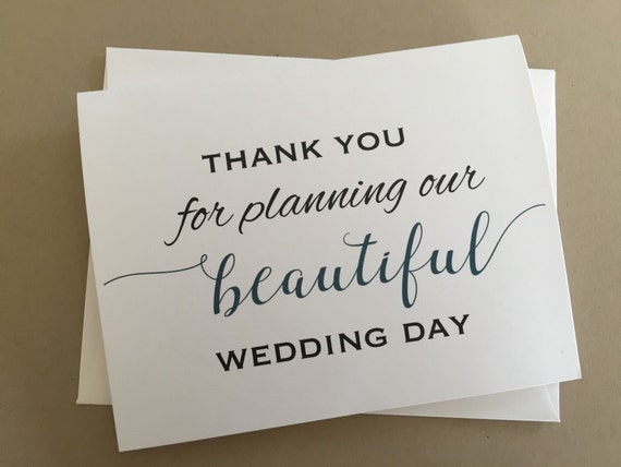 Thank You Gift To Wedding Planner : Wedding Planner Thank you card,A2 Wedding Day Cards(WDC-PR02)