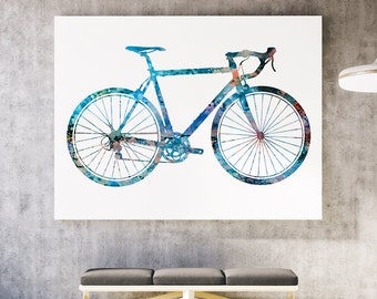Nice Bike Print - Colorful Poster - Watercolor Illustration - Wall Poster - Gift Idea