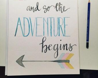 Adventure watercolor