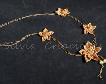Confeccoes Flower necklace / jewelry woman/Collar fabric accessory female flowers /