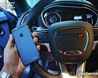 iphone 6 skin mariana blue with black