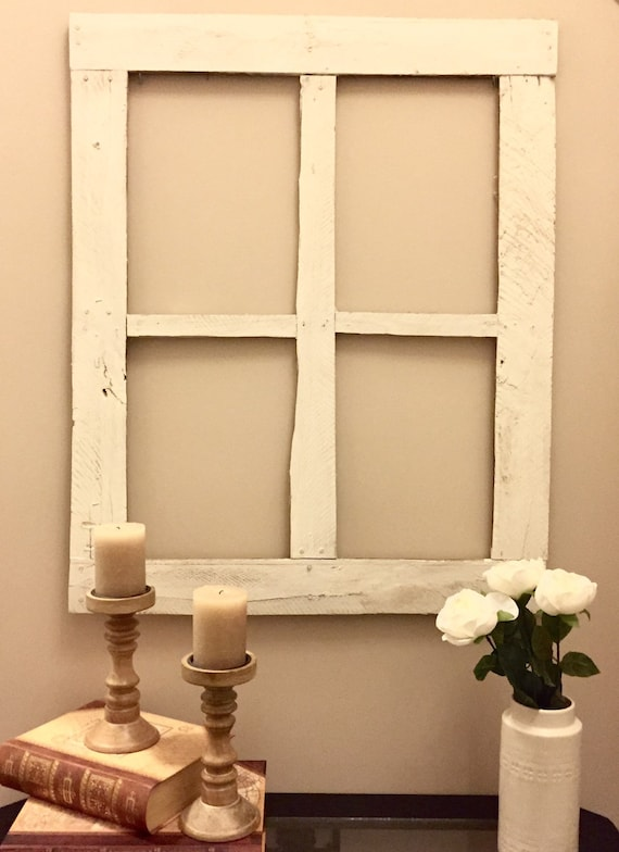 Rustic Window Frame Wall Decor : Rustic window pane by chicuniquehomestore