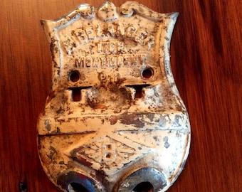 Antique Belanger Ltee Montmagny Québec cast metal furnace draft control bracket part