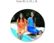 Modest Swimwear Sewing Pattern (Multi-Size XS, S, M, L, XL)