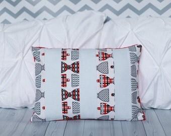Bowtie Pillow - Nursery Pillow -Minky Pillow - Baby Pillow
