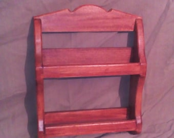 Spice rack from wood