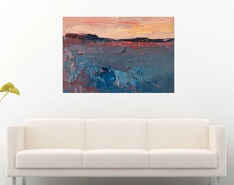 Sunset Painting Sunset Art Sunset Canvas Sunset Oil Painting Sunset Home Decor Wall Art Sunset Sea Sunset Seascape Painting Abstract