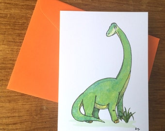 3pack - Brachiosaurus Greeting Card