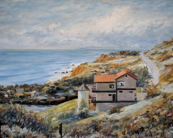 Fine Art Canvas Print Beach House Gallery Wrapped Ready to Hang