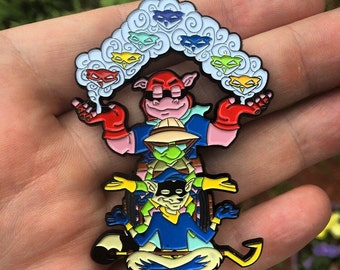 Sly Cooper Chakra Pin - 2.5 inch