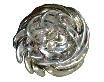 Vintage Zuni Sterling Silver Brooch, Joe Eustace Silver Pendant