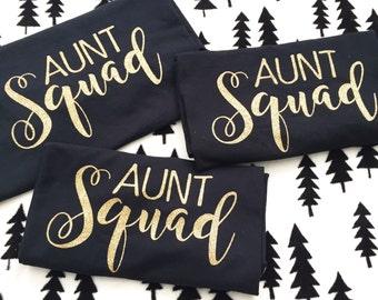 aunt shirt, aunt squad, aunt t-shirt, adult shirt, womens