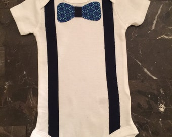 Boy's Onesie with Bow Tie