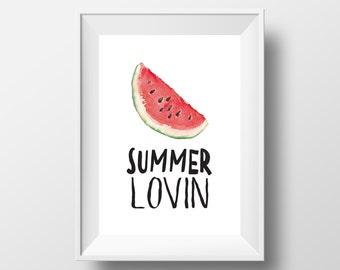 Watermelon Print - Summer Print - Fun Quote Print - Print for Hanging