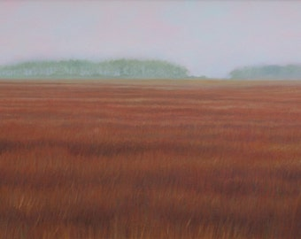 "Fine art print of an original oil painting titled ""Marsh"""