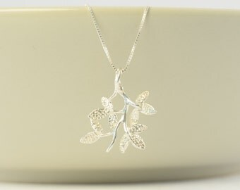 unique leaf necklace gift, leaf necklace best friend gift, sterling silver leaf necklace gift, leaf necklace, unique necklace, silver