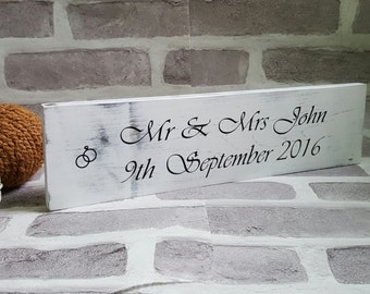 Rustic Wedding Gift, Wedding Present, Wedding Gift, Personalised Wedding Gift Plaque, Mr and Mrs Wedding Gifts, Handmade Wedding Gift,