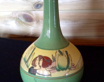 Arcadia Art Deco Vase Mid 20th Century