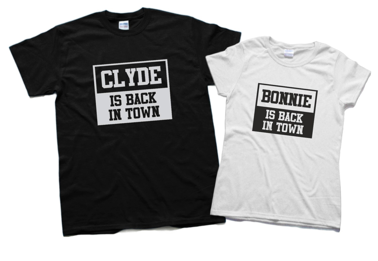 couples shirts bonnie and clyde shirts we go together matching. Black Bedroom Furniture Sets. Home Design Ideas
