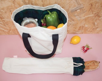 Bag of 2 compartments + chopsticks handbag market