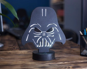 Darth Vader handmade led lamp