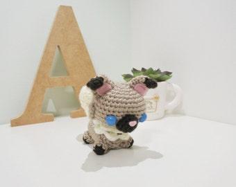 Rockruff Amigurumi/Crochet Stuffed Doll (Pokemon Inspired Amigurumi) Gift Idea, Keychain, Planner Accessories, Bag Charm, Soft Toy