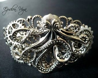 "Steampunk bracelet : ""Octopus Big"""