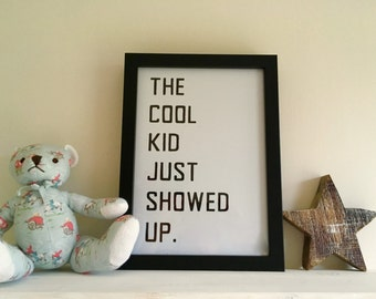 Quote Wall Art Print - A4 Unique Design and Handmade for Nursery or Childrens Bedroom