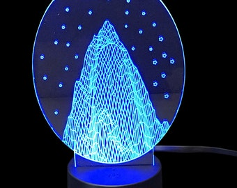 Mountain- LED Night Light Lamp 3D