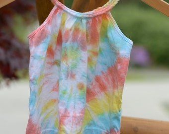 Baby Girls Tie-Dye Braided Tank Top