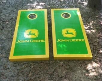 John Deere cornhole set with bean bags