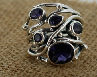925 Sterling Silver   &   Iolite   Ring