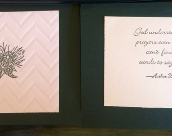 Sympathy Cards -  pack of 10 with envelopes