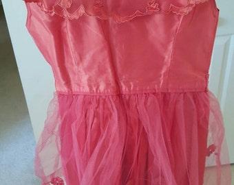 Vintage Hot pink little girls dress