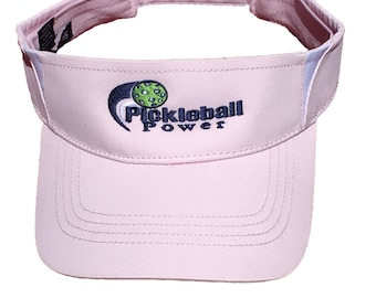 Pickleball Logo - Light Pink Visor - Dry Zone & Moisture Wicking Technology