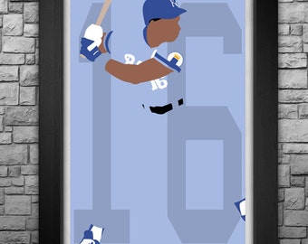 BO JACKSON minimalism style limited edition art print. Choose from 3 sizes!