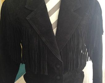 Vintage Wilsons Leather Fringe Jacket Coat ~ Moto Jacket