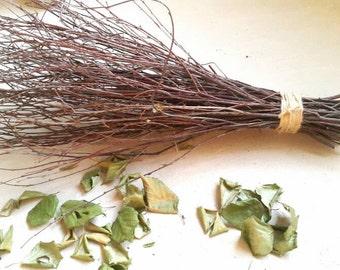 birch broom, wedding broom, halloween broom, rustic wedding decor, birch twigs broom, twig broom, handmade broom, handmade decorative broom