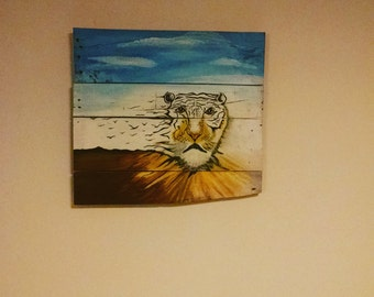 Fading Tiger painting