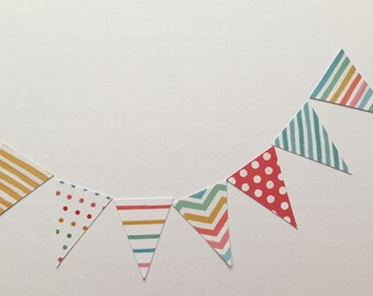 Mini Card Bunting (80 Pieces) & Jute String