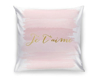 Pink and Gold Pillow