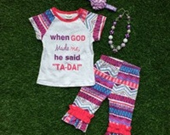 Ta-Da Capri pant Set *includes necklace and headband*