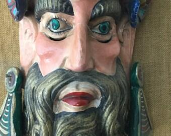 Antique God of land mask