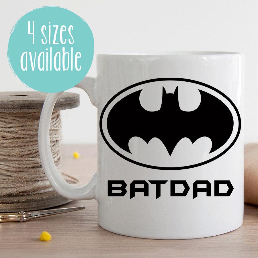 Bat Dad Mug Batdad Mug Batman Mug Fathers Day Batman Mug