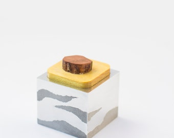 The Wave Box 2.0 | Aluminum and Wood Jewelry/Ring Box