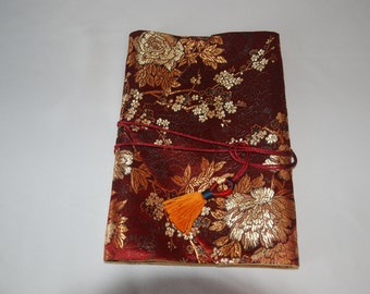 Brocade Fabric Book Cover with Tassel